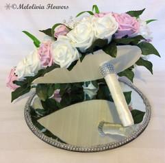 pink & ivory teardrop bouquet - foam flowers