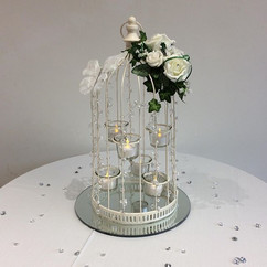 ivory flowers for birdcages - foam flowers
