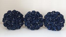Navy blue bouquets - foam flowers