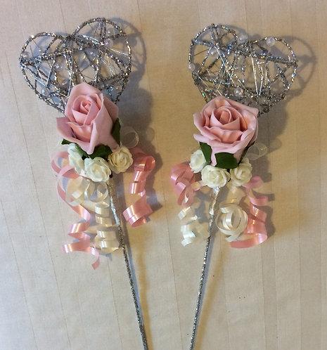 Heart Shaped Flower Wand
