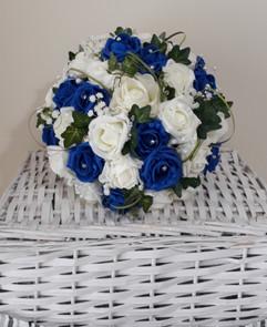 blue & white bouquet - foam flowers