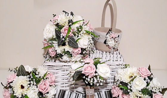 Artificial bouquets and wedding flowers
