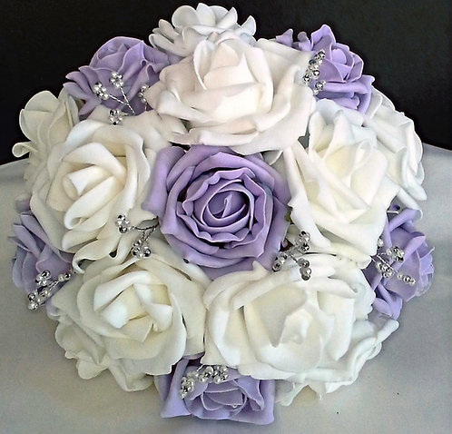"""Artificial posy bouquet with embellishments (7""""wide)"""