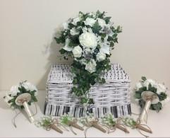 ivory bouquets - foam flowers