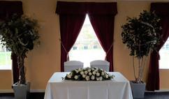 ivory top table flowers - foam flowers