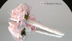 pink & ivory flower girl wand - foam flowers