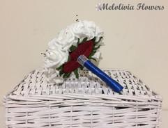 ivory bouquet - foam flowers
