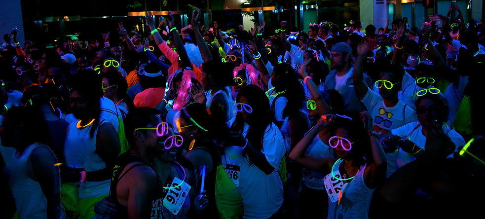 Glow after party, fun runs, brightest 5k