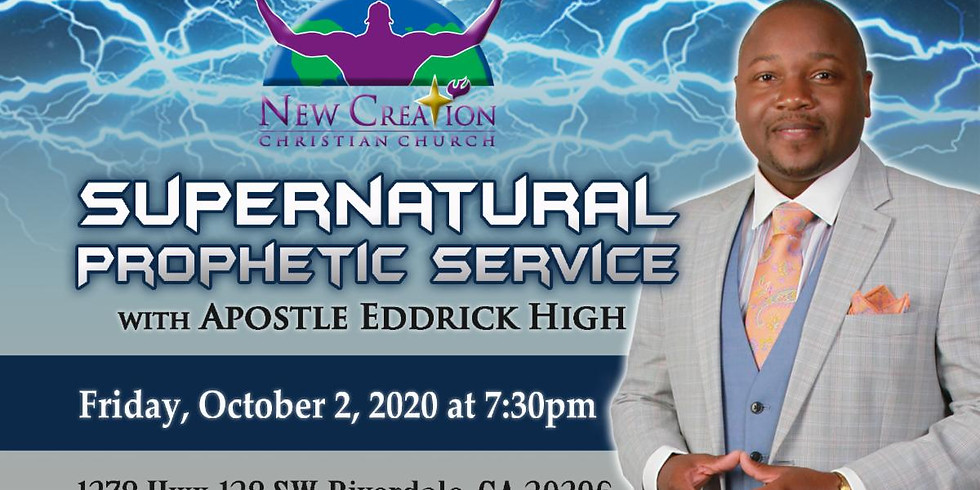 Supernatural Prophetic Service - Friday, October 2, 2020 @ 7:30pm EST