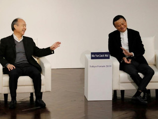 Alibaba's Jack Ma and Softbank's Masayoshi Son see people at the heart in age of AI