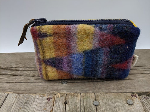 Small Zip Case- Jewels and Mustard