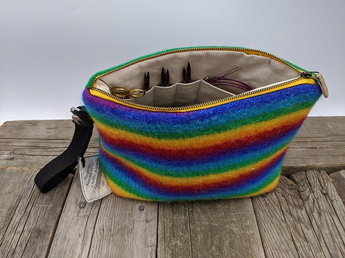 Knitter's Project Bag -Rainbow Green