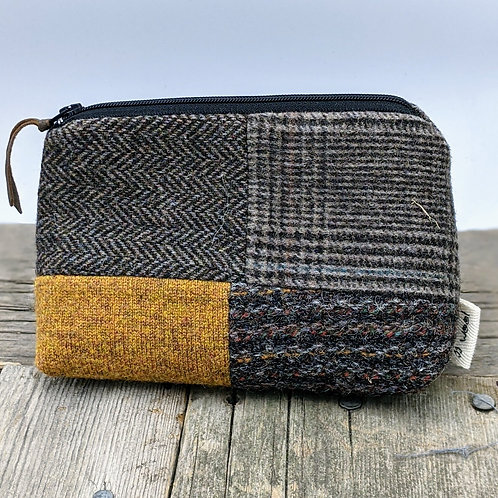 Small Zip Case -Golden and Tweeds