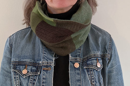 Cashmere Neckwarmer - Forest Green #3