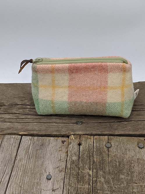 Small Zip Case - Pastel Plaid