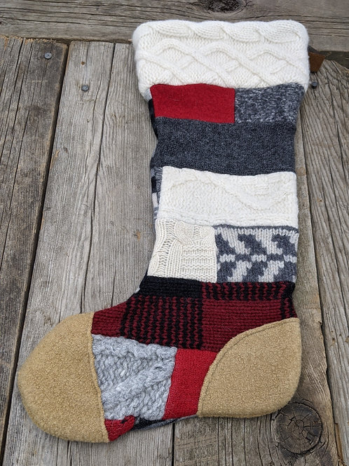 Canadiana Patchwork stocking-gold toe