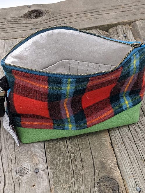 Knitter's Project Bag - Red Tartan & Blue/Green