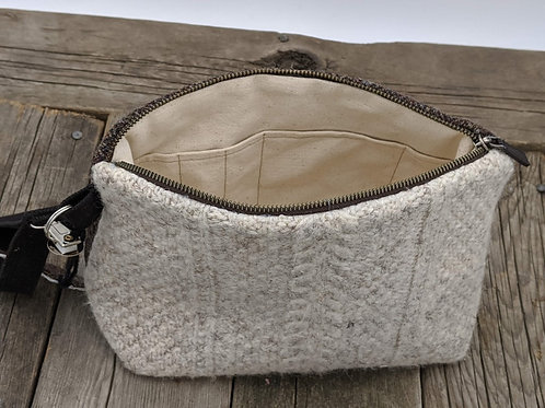 Knitter's Project Bag - Cables & Herringbone