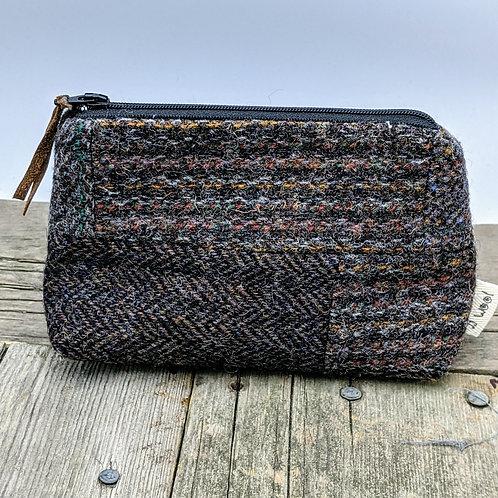 Small Zip Case - BrownTweed Patchwork