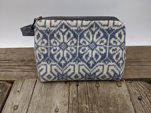 Medium Zip Case - Nordic Blue and Tweed