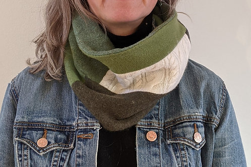 Cashmere Neckwarmer - Forest Green #1