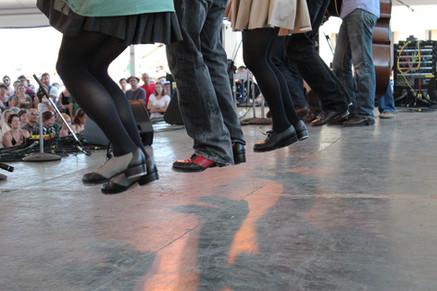 Good Foot Feet at the Newport Folk Festival, 2011