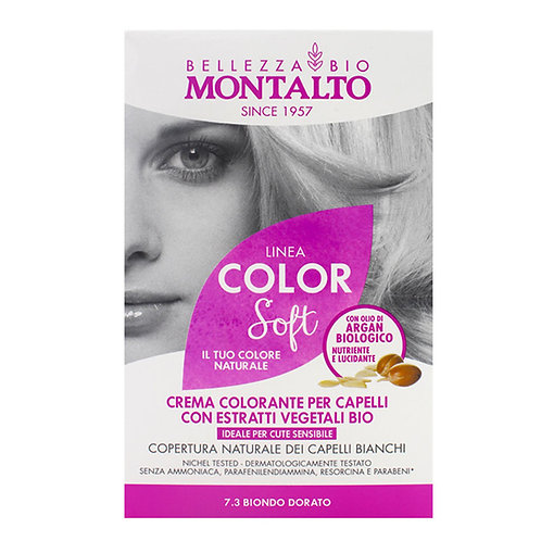 Montalto | Linea Color Soft Natural Hair Color | 7.3 Biondo Dorato (>90%Natural)