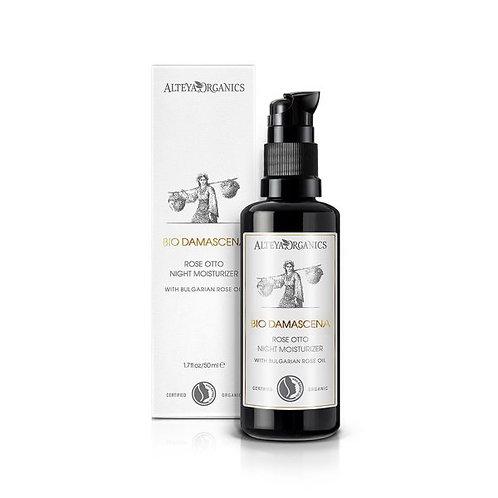 Alteya Organics | Bio Damascena Rose Otto Night Moisturizer | 1.7fl oz/50ml