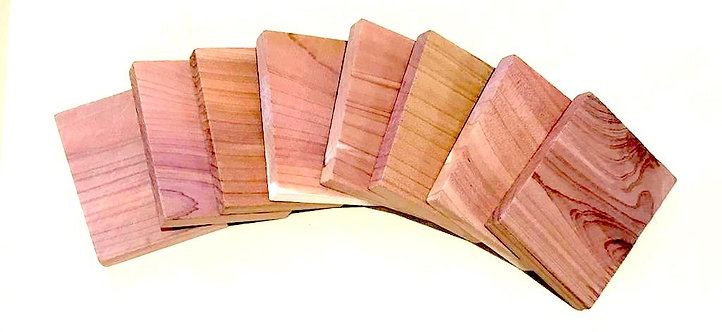 Cedarwood Clothes Moth Repellers | Blocks x 8 pcs (6cm x 4.8cm x 1cm)