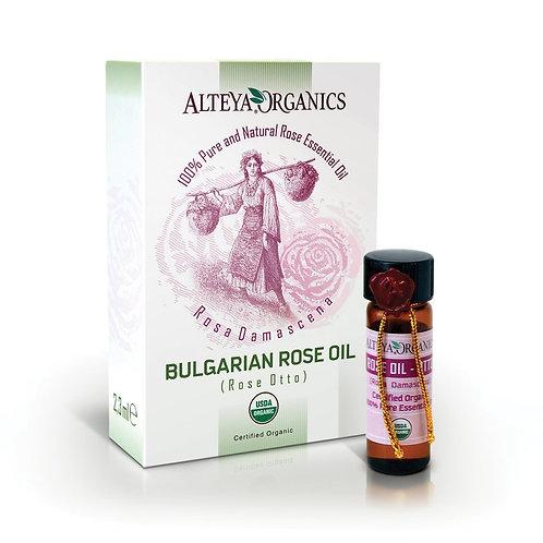 Alteya Organics  100% Pure Therapeutic Grade USDA Organic Rose Otto Oil  2.3ml/v