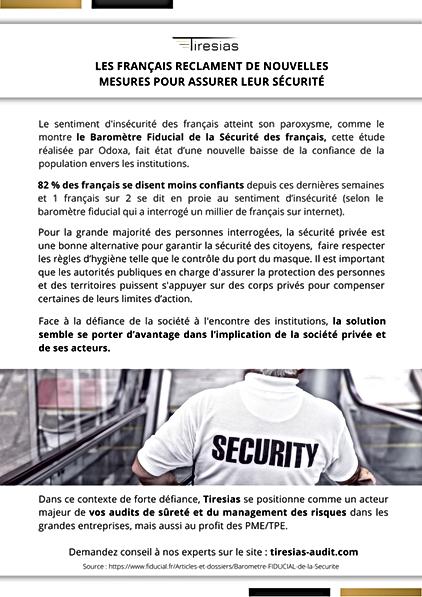 France : de nouvelles mesures pour assurer la sécurité des citoyens