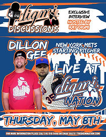 New York Mets Opening Day pitcher Dillon Gee, sits down with Digmi founder Ray Digmi for a special live Digm Discussions Interview