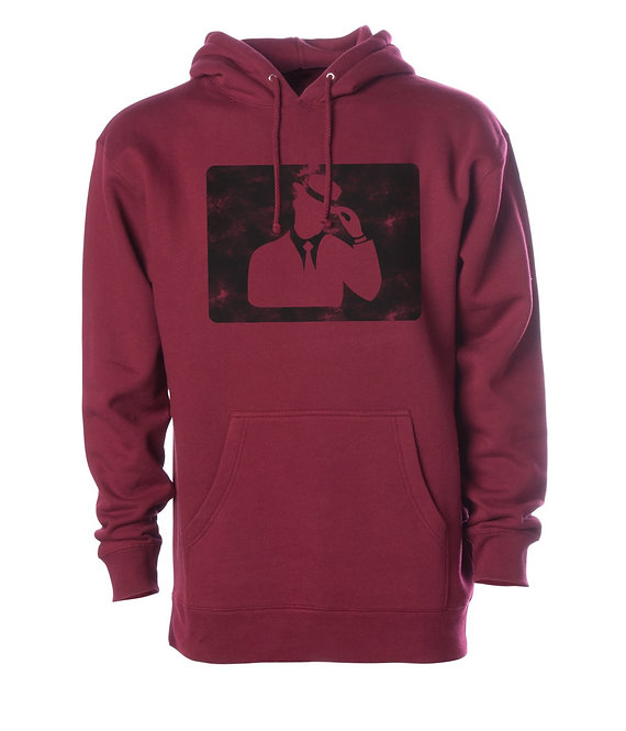 "Digmi ""Knockout"" Pullover Hooded Sweatshirt - Maroon"
