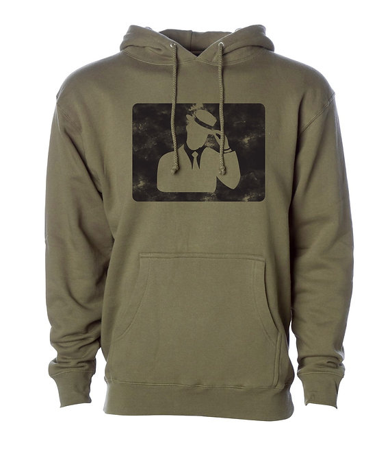 "Digmi ""Knockout"" Pullover Hooded Sweatshirt - Army Green"