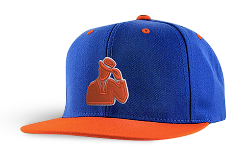 "Digmi ""The Guy in the Tie"" Snapback - Orange and Blue"