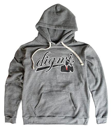 "Digmi ""DBL"" Pullover Hooded Sweatshirt - (Tri-Vintage Gray)"