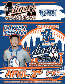 Darren Meenan, the founder of The 7 Line, a New York Mets fan based apparel line, sits down with Digmi founder Ray Digmi for a special Digmi Discussions Interview