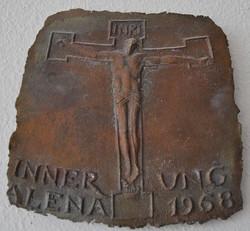 Relief Christus bronze 1