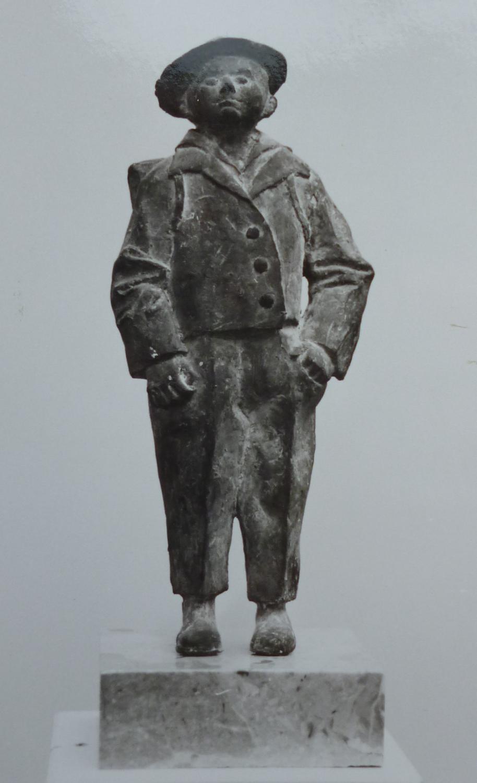 Bub mit Schulranzen, Bronze, 28cm_edited