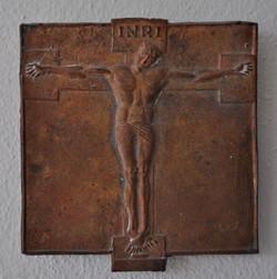 Relief Christus bronze