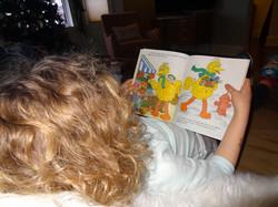 Olive reading BB
