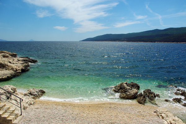 The beach at Rabac