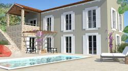 Computer image of villa