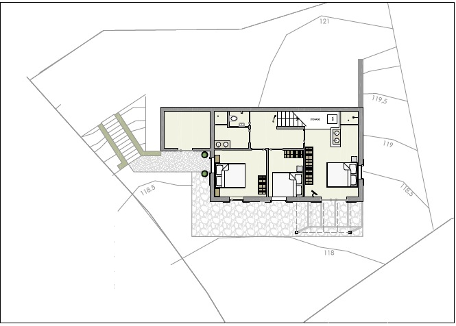 Ground floor (according to permit)