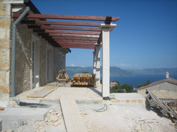 Terrace of Villa B under constructio