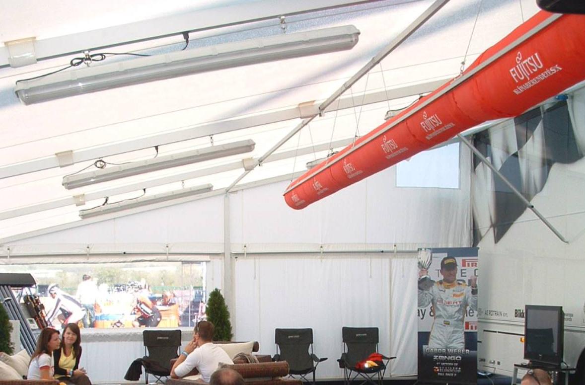 Mobil sátor szellőzése