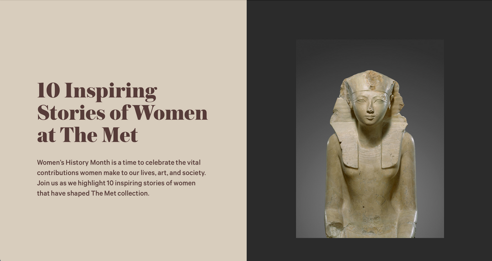 10 Inspiring Stories of Women at The Met