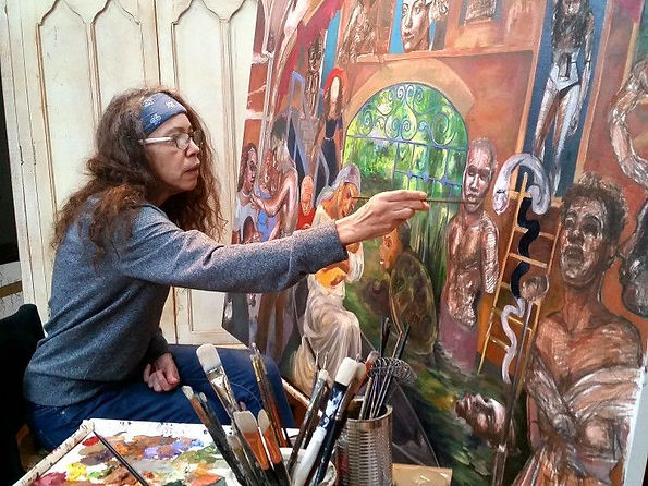 stefanie jackson, artist, painter, african american art, uga, black art, athens, detroit, stephanie jackson
