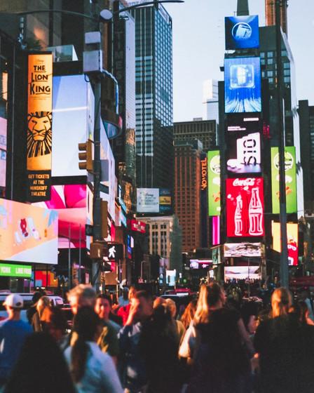 Times Square by Lela Jenkins
