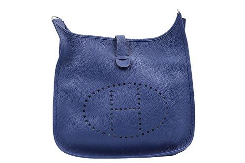 Hermès Evelyne III Bleu Brighton GM